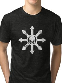 Mark of Chaos Distressed White Tri-blend T-Shirt