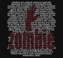 Zombie Hand and word Zombie in Picture'Of'Text style T-Shirt
