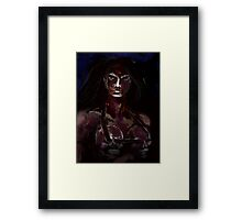 BLOOD DRENCHED Framed Print