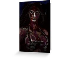 BLOOD DRENCHED Greeting Card