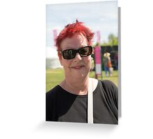 Jo Brand at Hampton Court Palace flower show 2015 Greeting Card