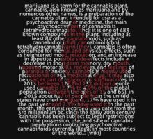 Marijuana leaf in Picture'Of'Text style by NataliSven