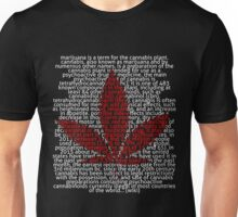 Marijuana leaf in Picture'Of'Text style Unisex T-Shirt