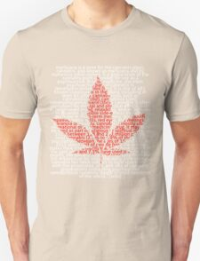 Marijuana leaf in Picture'Of'Text style T-Shirt