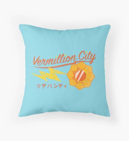 Kanto Gym Logos - Vermillion City (2015) Throw Pillow
