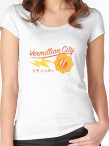 Kanto Gym Logos - Vermillion City (2015) Women's Fitted Scoop T-Shirt