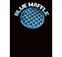 Blue waffle Photographic Print
