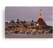 end of the beach day - del coronado hotel Canvas Print