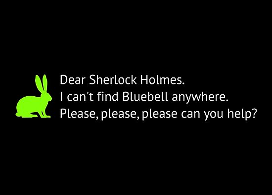 I can't find bluebell anywhere by AAA-Ace