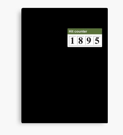 1895 Hit counter Canvas Print