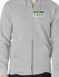 1895 Hit counter Zipped Hoodie