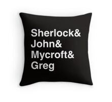 Sherlock&John&Mycroft&Greg Throw Pillow