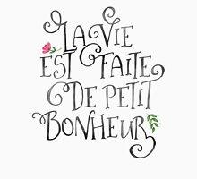 La Vie Est Fait De Petit Bonheur Womens Fitted T-Shirt
