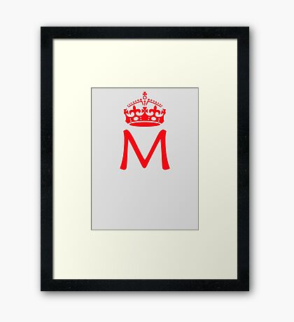 Moriarty in a crown Framed Print