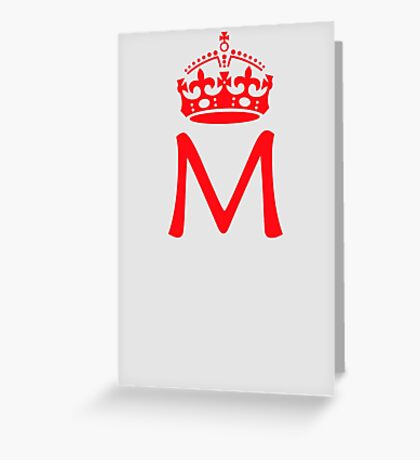 Moriarty in a crown Greeting Card