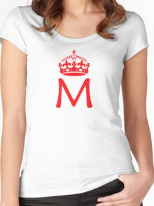 Moriarty in a crown Women's Fitted Scoop T-Shirt