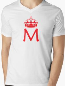 Moriarty in a crown Mens V-Neck T-Shirt