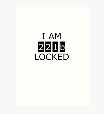 I am 221b locked Art Print