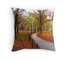 Fall in New York Throw Pillow