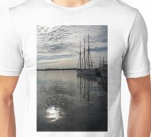 Toronto Harbor - Tall Ships and Dramatic Light Unisex T-Shirt