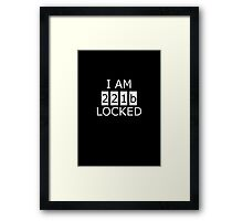 I am 221b locked Framed Print