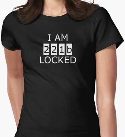 I am 221b locked Womens Fitted T-Shirt