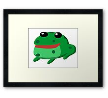 Froggy Fred Framed Print