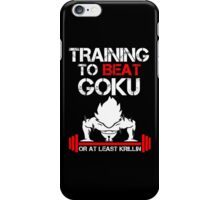 Training to beat Goku iPhone Case/Skin