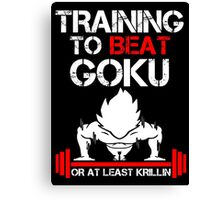 Training to beat Goku Canvas Print