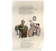 LIttle Ann and Other Poems by Jane and Ann Taylor art Kate Greenaway 1883 0015 Sophia's Fool's Cap Poster