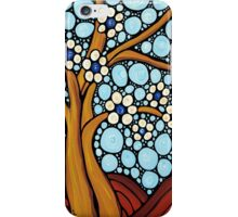 The Loving Tree - Abstract Mosaic Landscape Art Print iPhone Case/Skin