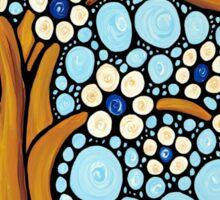 The Loving Tree - Abstract Mosaic Landscape Art Print Sticker