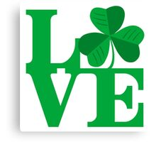 Shamrock Love Canvas Print