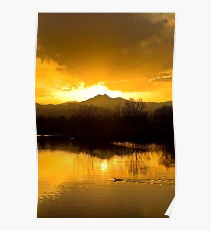 Golden Ponds Sunset Poster