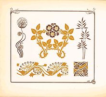 Maurice Verneuil Georges Auriol Alphonse Mucha Art Deco Nouveau Patterns Combinaisons Ornementalis 0054 by wetdryvac