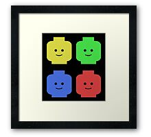 Lego Heads Framed Print