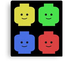 Lego Heads Canvas Print
