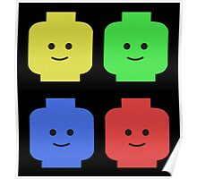 Lego Heads Poster