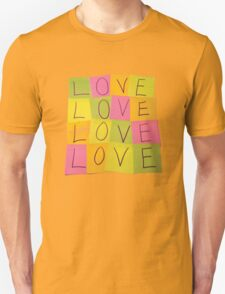 LOVE in Post-it Notes T-Shirt