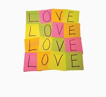 LOVE in Post-it Notes Unisex T-Shirt