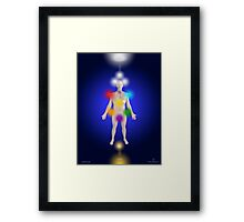 The Position Of The Sephirot On The Human Body Framed Print