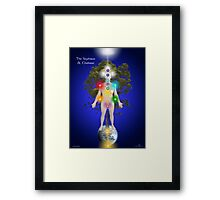 The Sephirot And Chakras On The Human Body Framed Print