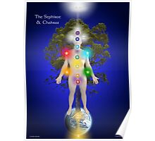 The Sephirot And Chakras On The Human Body Poster