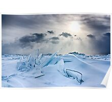 Icy Beach Poster