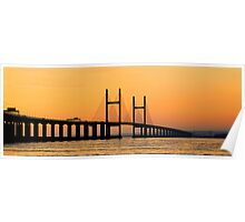 Severn Bridge at Sunset Poster