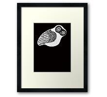 greek owl (white) Framed Print