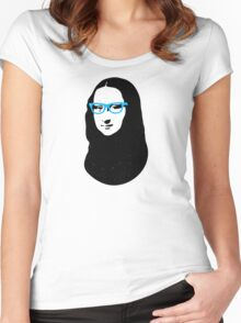 Mona Lisa Hipster Women's Fitted Scoop T-Shirt