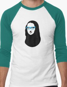 Mona Lisa Hipster Men's Baseball ¾ T-Shirt