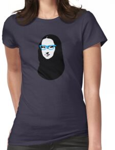 Mona Lisa Hipster Womens Fitted T-Shirt