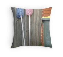 Two Mops Throw Pillow
